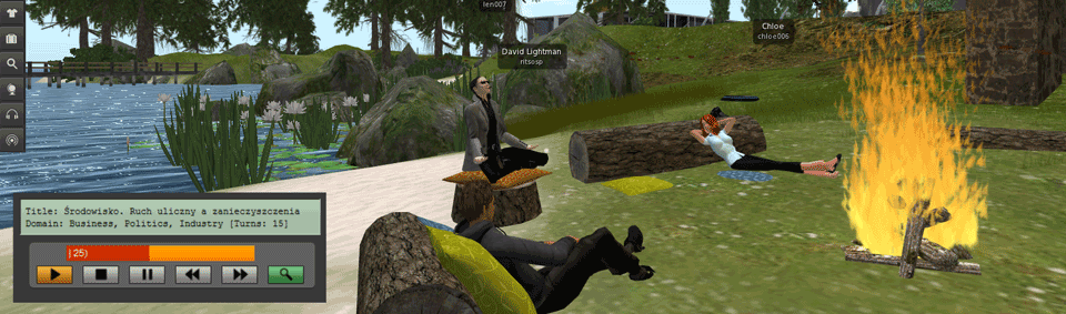 Teaser for Training Interpreters using Virtual Worlds